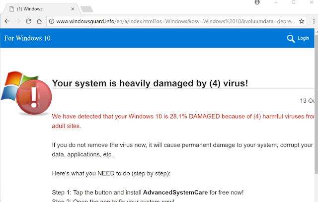 Windowsguard.info (Falsas alertas de Microsoft)