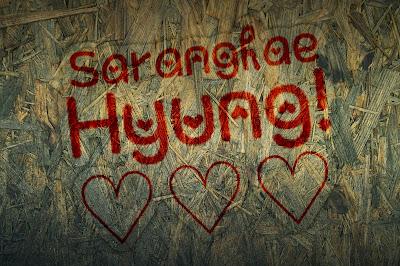 kata yang dapat dijadikan wallpaper ataupun dp bbm 7 Gambar Tulisan Korea I Love You Saranghae