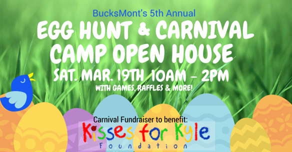 BucksMont's 5th Annual Egg Hunt Carnival with our Summer Camp Open House
