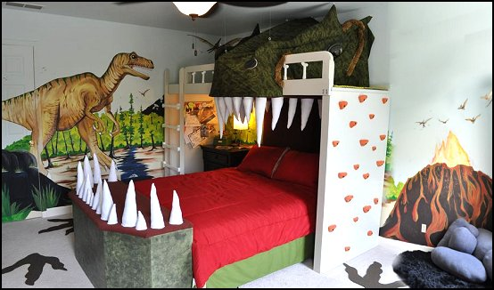 dinosaur theme bedroom