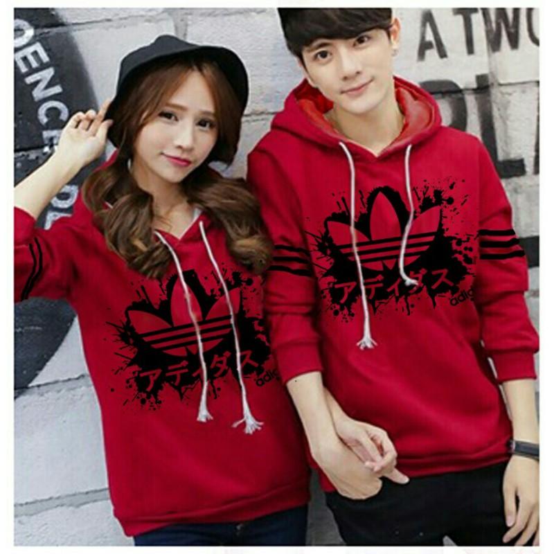Jual Online Jumper Adidas Japan Red Couple Murah Jakarta Bahan Babytery Terbaru
