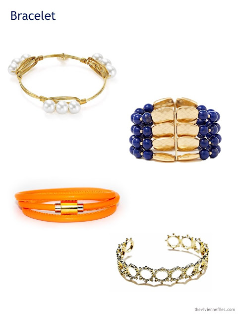 A Capsule Wardrobe in Beige, Bright Blue and Orange: Expanding Your Accessories - bracelets