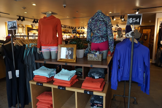 Shopping at Woodbury Common Premium Outlet New York Lululemon yoga athletica