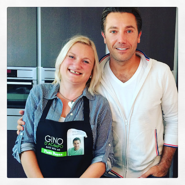 blonde madmumof7 with Gino D'Acampo