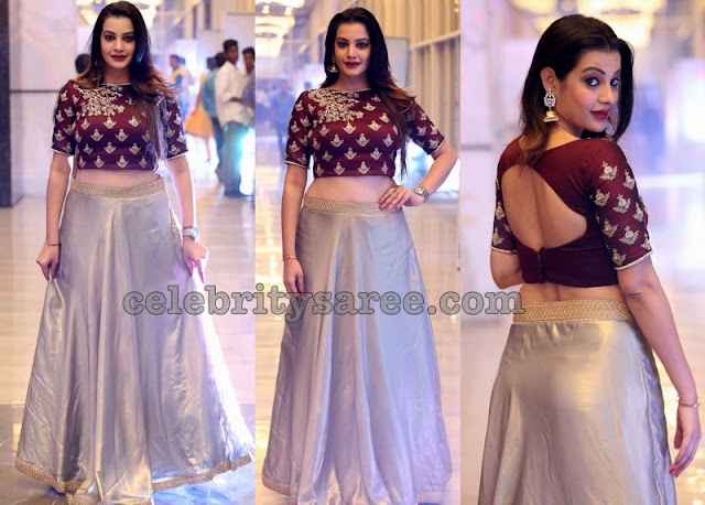 Diksha Panth in Long Skirt Crop Top