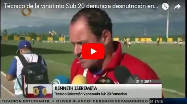 Destituido entrenador de la Vinotinto por declarar que atletas pasan hambre