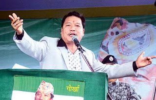 Bimal Gurung at Delo near Kalimpong