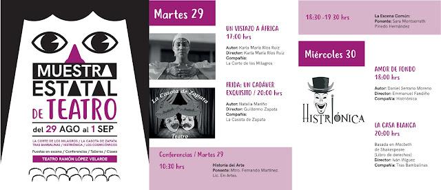 muestra estatal de teatro zacatecas 2017