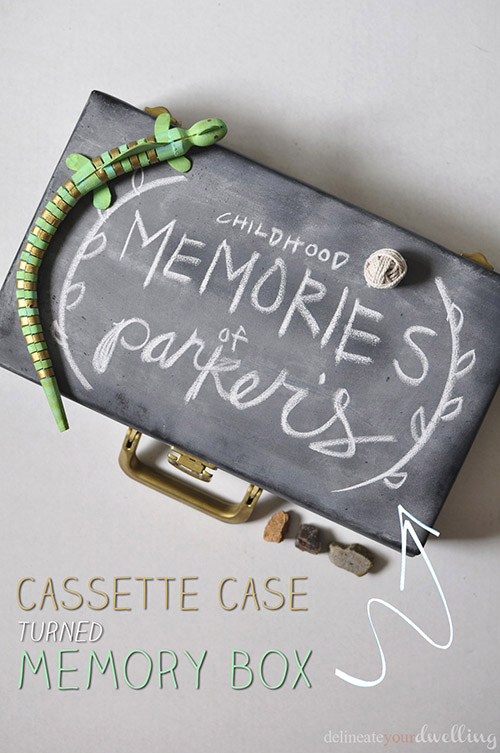 Cassette Case turned Memory Box, Delineate Your Dwelling