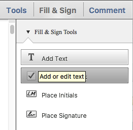 adobe acrobat reader dc fill and sign change font