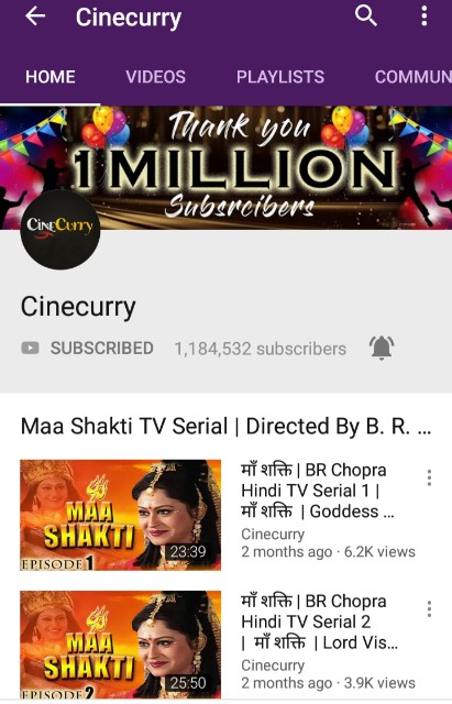 List of official YouTube channel for south Indian Hindi dubbed