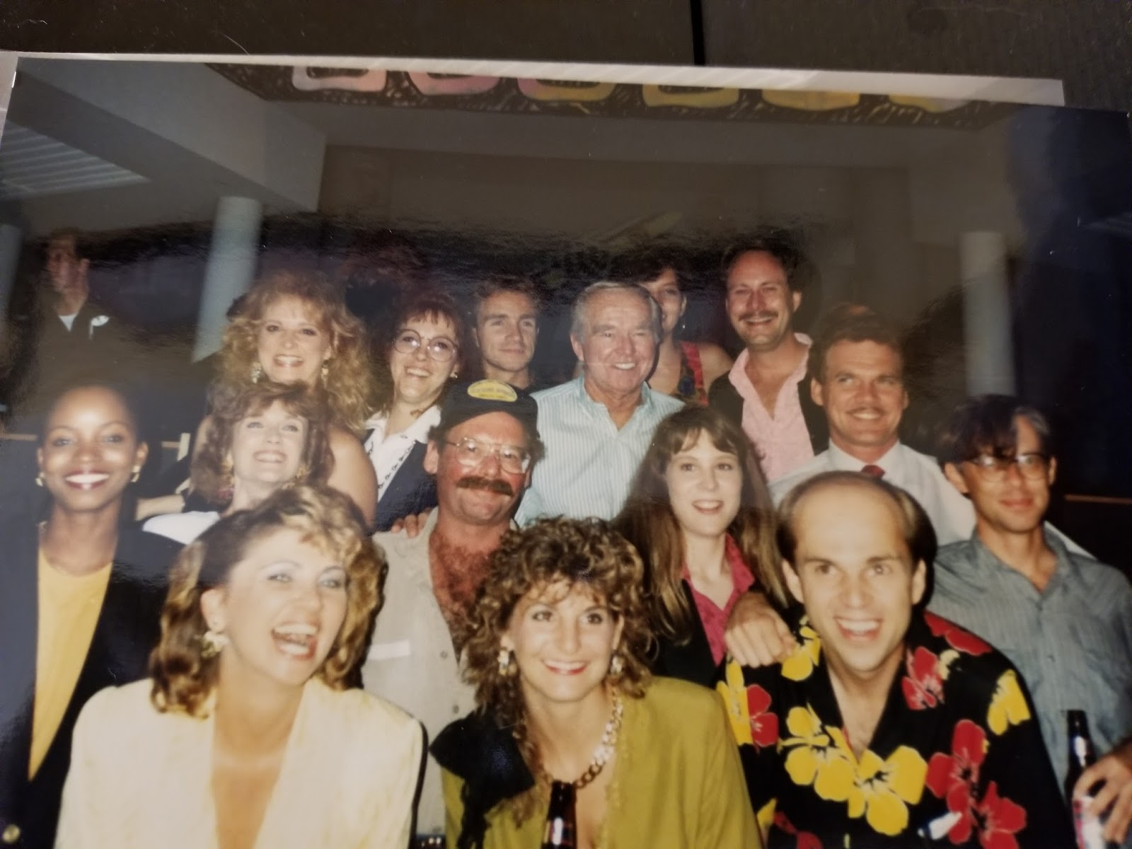 divorce court wrap party glenda 2nd to the left middle row judge keene 4th left top row dan parson top row far right 1991