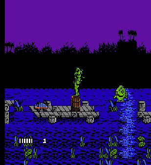 【FC】沼澤怪物(Swamp.Thing)原版+無敵版,改編DC漫畫超級英雄動作遊戲!