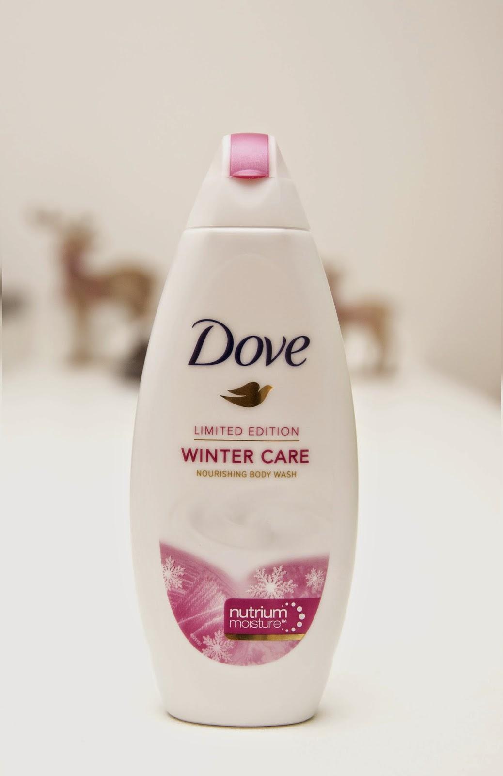 dove zimní limitovaná edice, krém na ruce, sprchový gel, tělové mléko, winter care dove, deep care