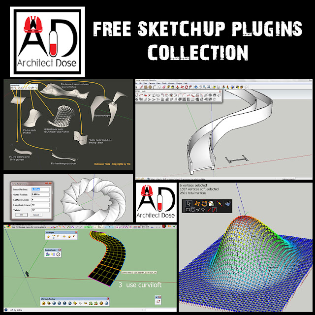 FREE SKETCHUP PLUGINS COLLECTION