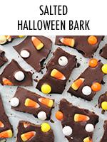 Candy corn & chocolate, all in a fun bark