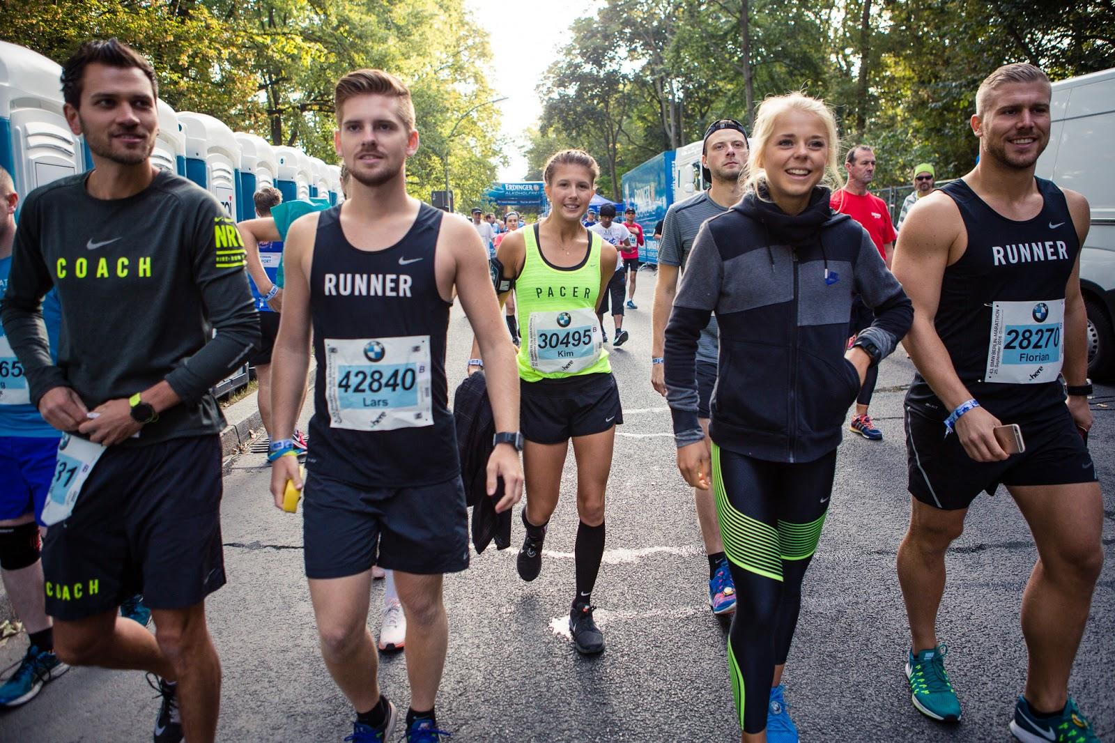 Startbereich BMW Berlin-Marathon