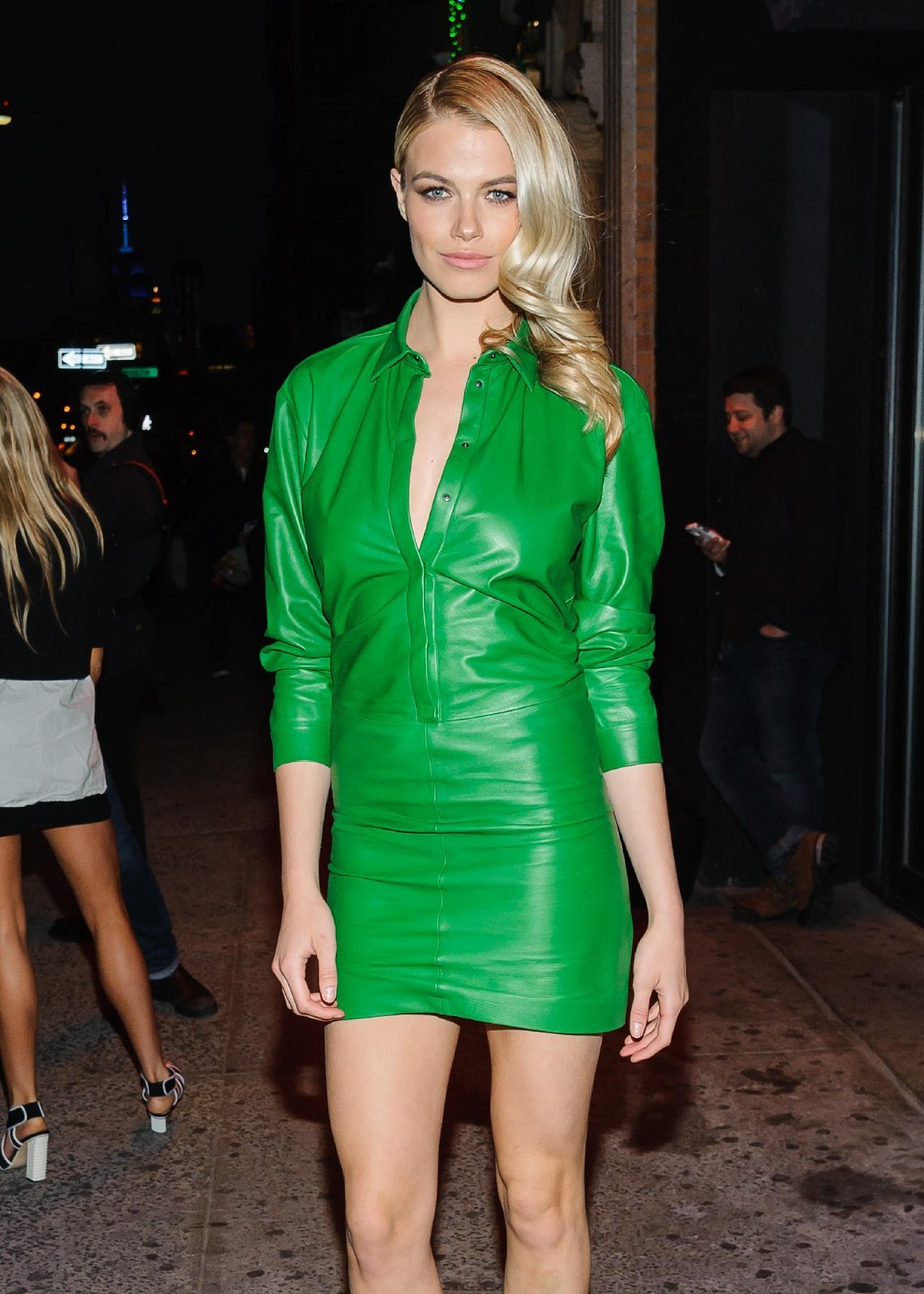 Green Leather Dresses