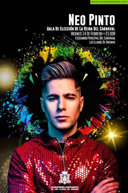 El cantante Neo Pinto actuará este viernes en la Gala Elección de la Fantasía Adulta de Los Llanos de Aridane