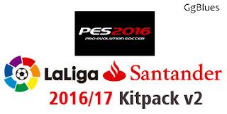 PES 2016 Laliga Santander 2016/17 Kitpack v2 by GgBlues