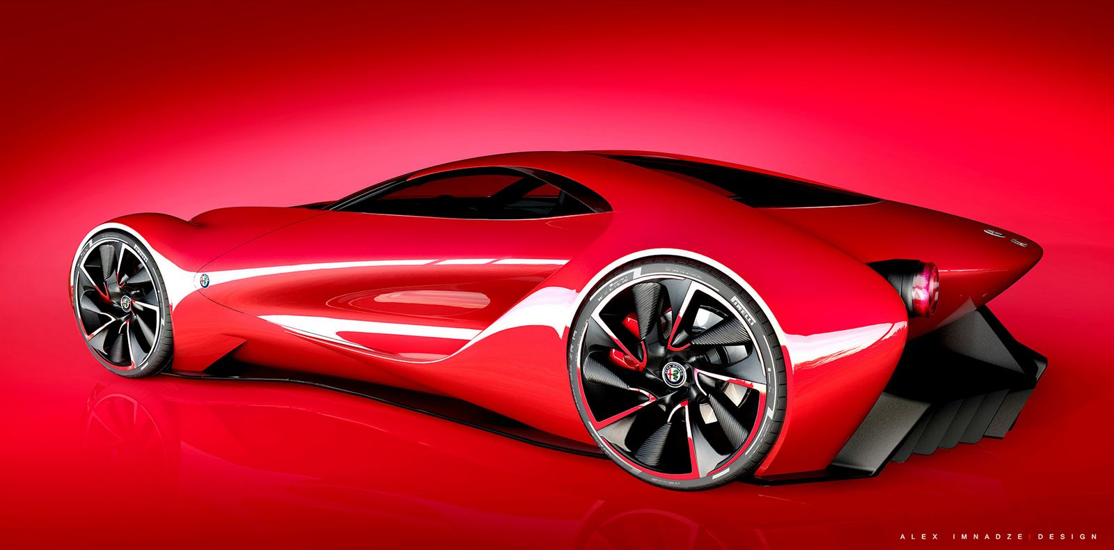 alfa romeo 6c disco volante design study is an italian beauty carscoops. Black Bedroom Furniture Sets. Home Design Ideas