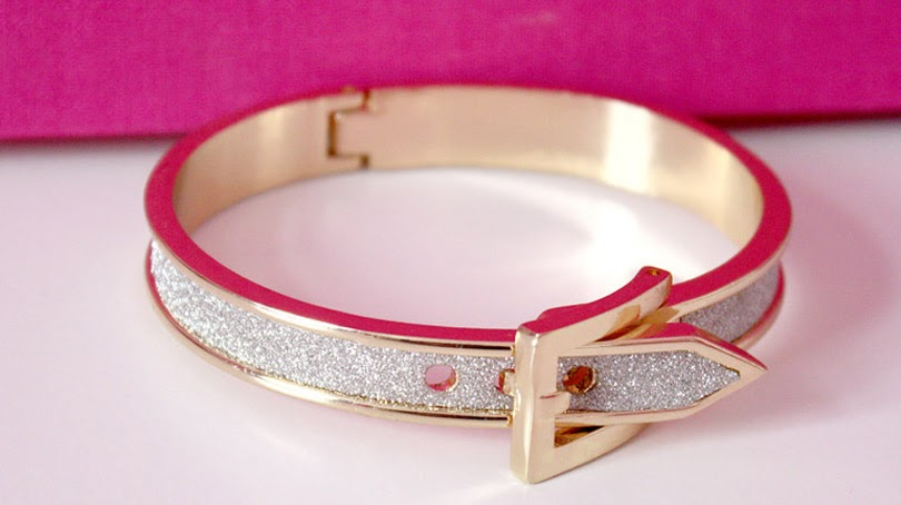 fashion high street glitter bangle