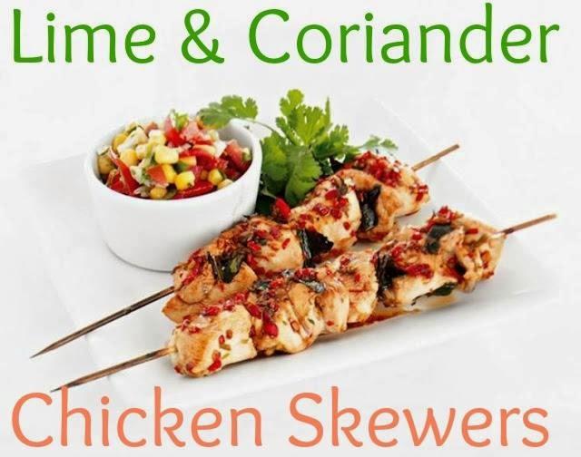 Lime & Coriander Chicken Skewers. Lunch Ideas
