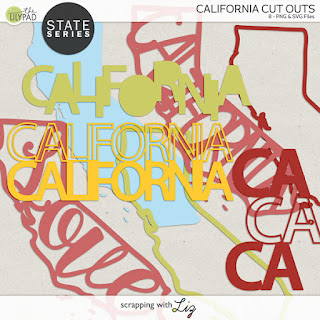 California Cut Outs for Digital and Hybrid Scrapbooking