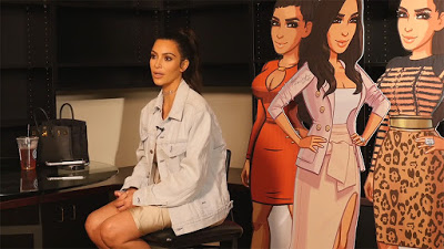 r Kim Kardashian shows up again in new behind-the-scenes video for her mobile game