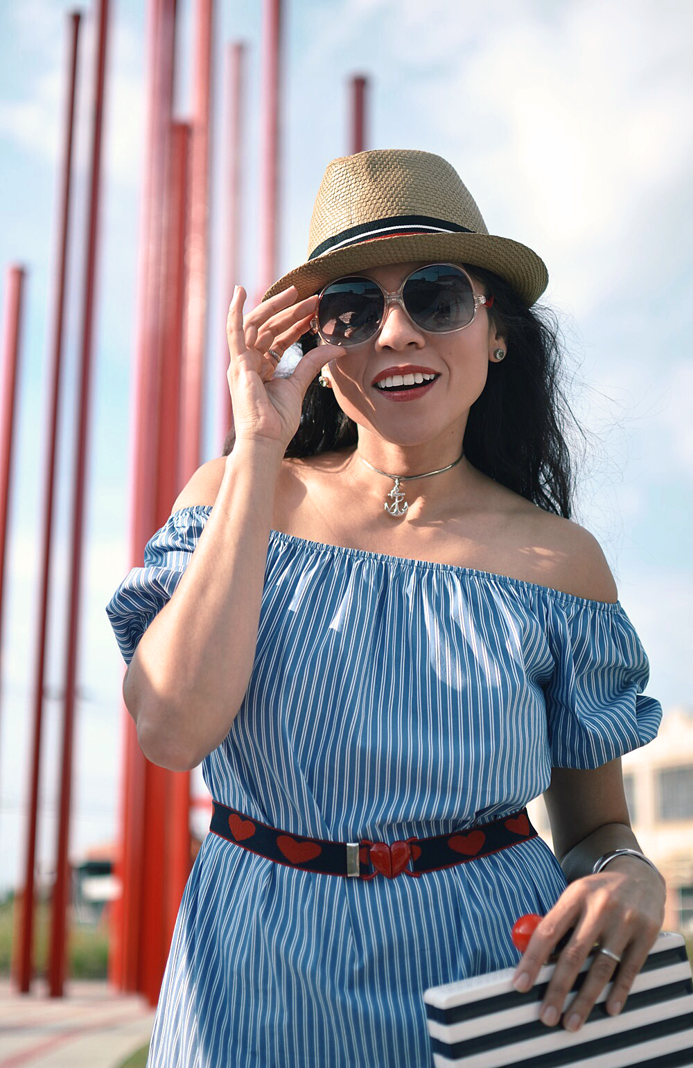 Nautical street style look