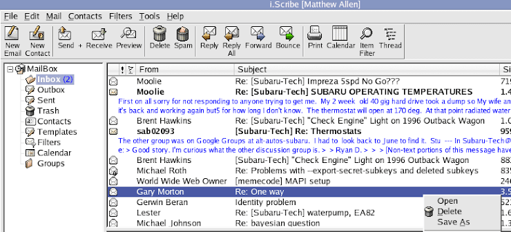 i.Scribe email client