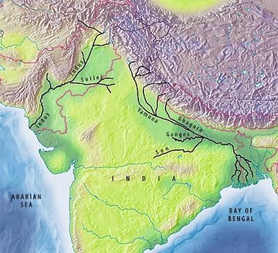 Rio Ganges na Índia e Bangladesh