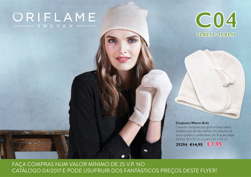 Flyer do Catálogo 04 de 2017 da Oriflame