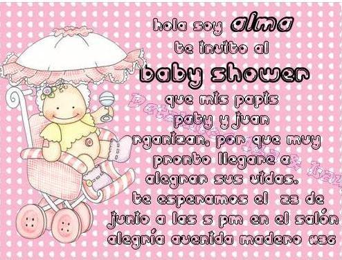 Invitaciónes Para Baby Shower Con Frases Graciosas Imagui