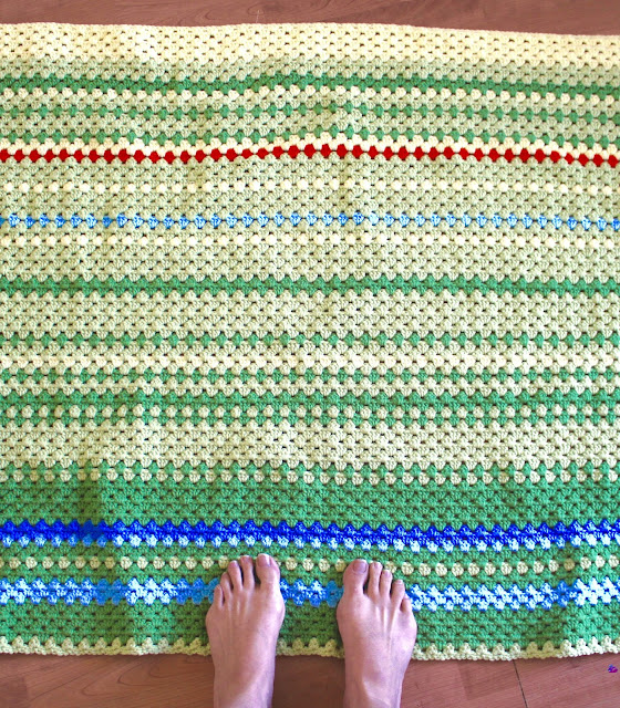 Crochet Patterns For Temperature Blanket : Life in This Place: Crocheted Temperature Blanket...March ...