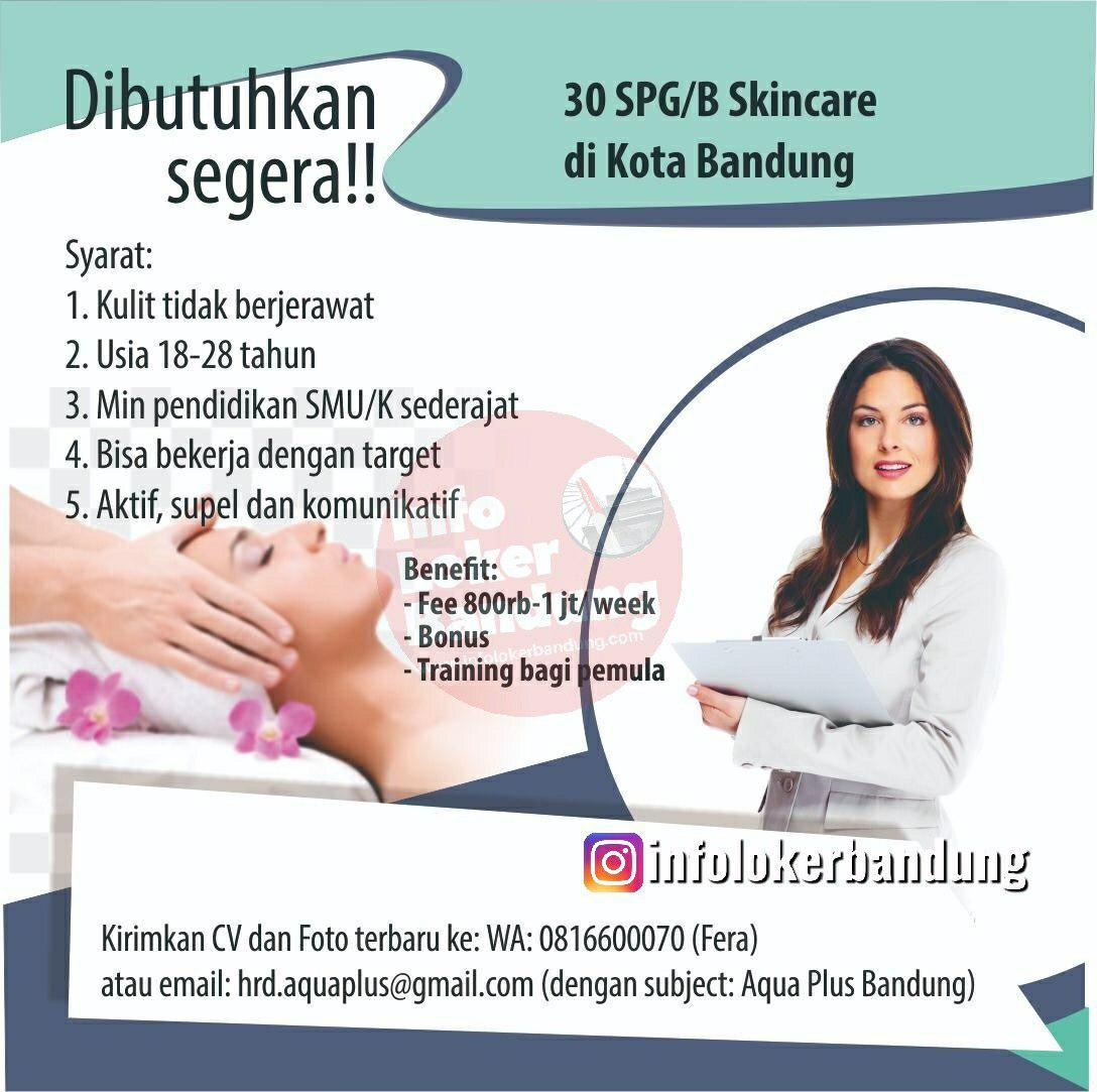 Lowongan kerja SPG & SPB Aquaplus Bandung April 2019