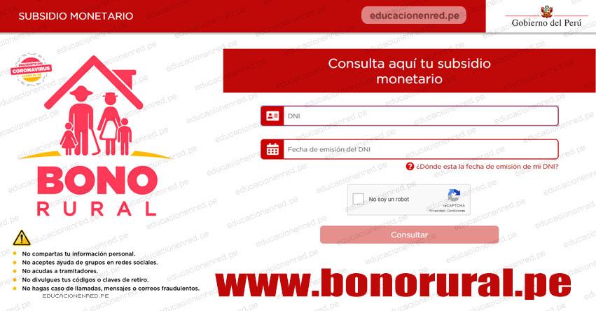 WWW.BONORURAL.PE - Bono de S/ 760 - Ingresa tu DNI [Página Oficial]