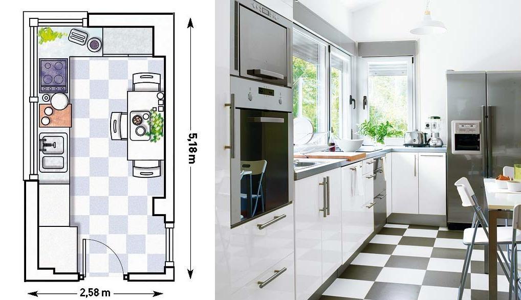 Axioma arquitectura interior qu distribuci n necesita - Cocinas pequenas en forma de u ...