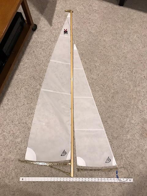 Vintage Marblehead suit of sails Carr