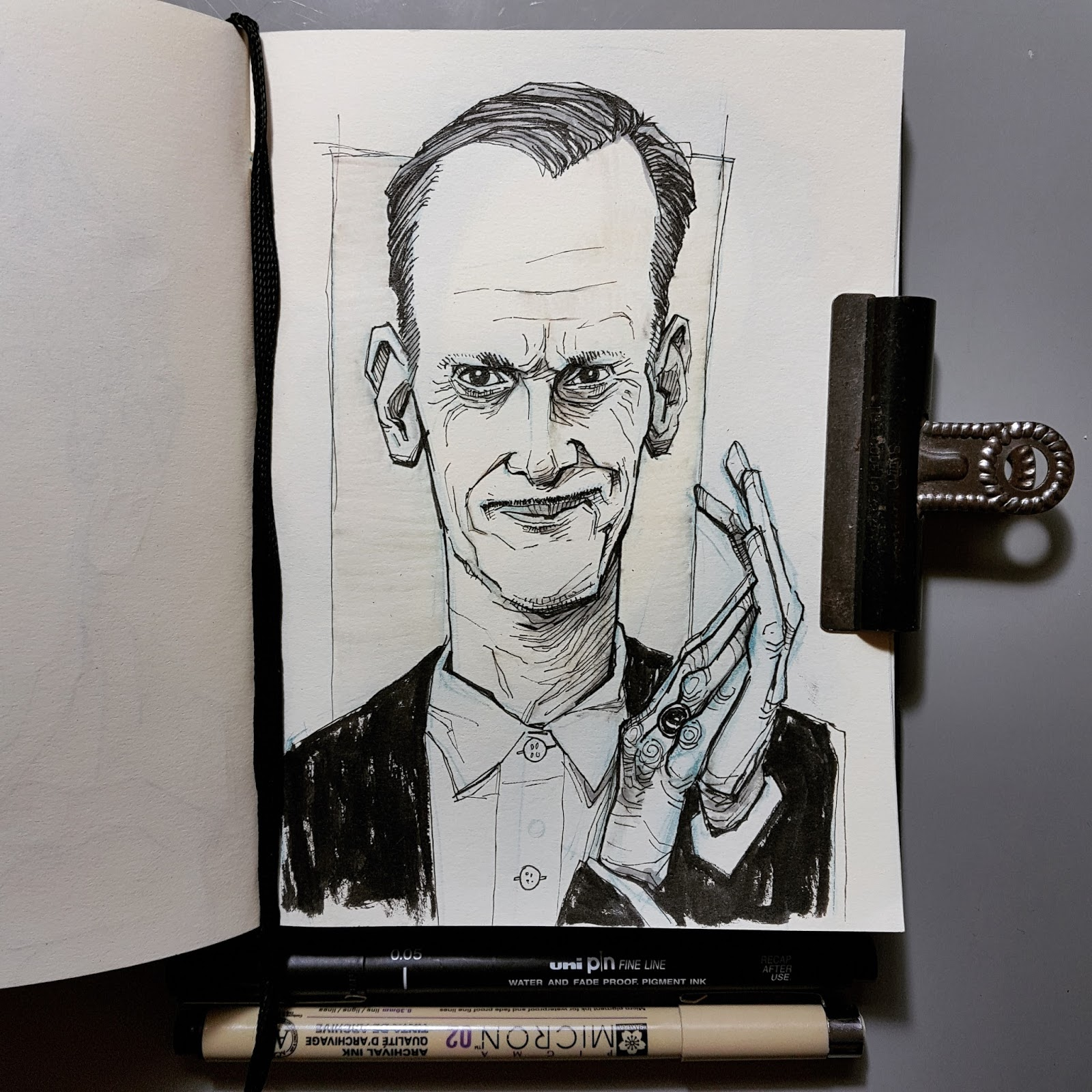 illustration John Waters drawing