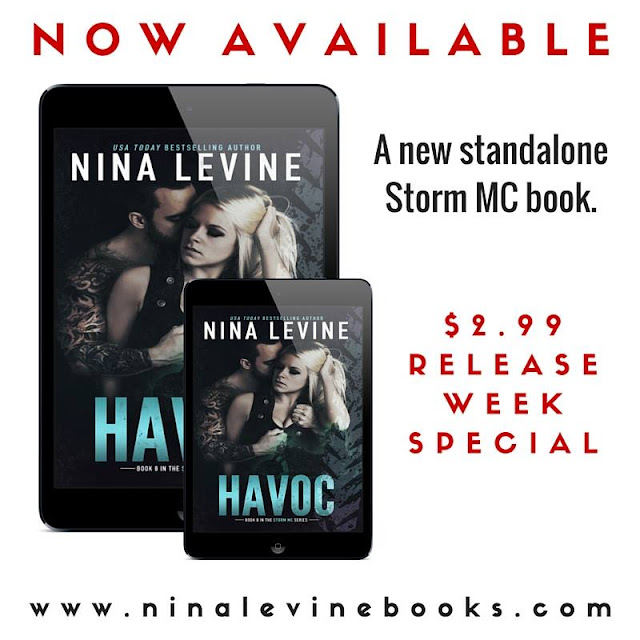Havoc by Nina Levine Release Day with Giveaway and more!