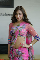 Actress Angela Krislinzki in Pink Saree Blouse Exclusive Pics March 2017 ~  074.JPG