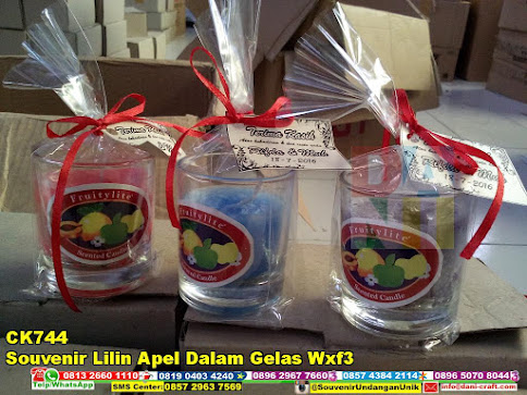jual Souvenir Lilin Apel Dalam Gelas Wxf3