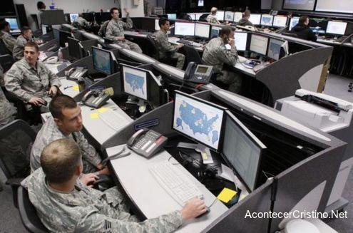 Sección de trabajo en base militar
