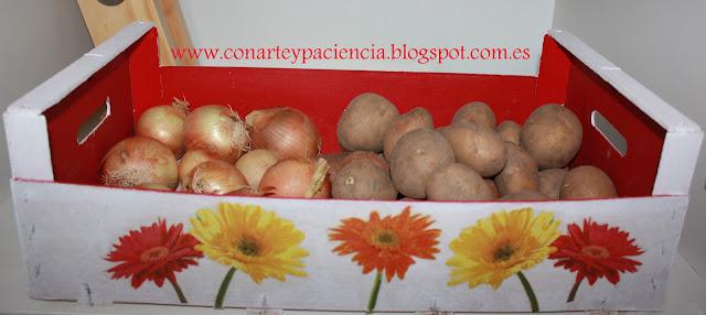 Caja de fruta reciclada aprender manualidades es - Manualidades con cajas de fruta ...