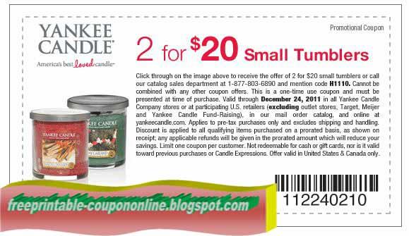 Yankee candle printable coupons april 2018