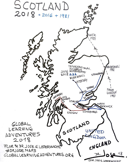 Global Learning Adventures in Scotland Map 2018