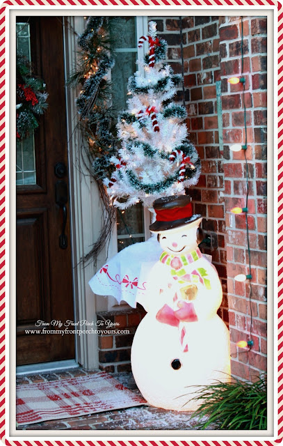 Blow Mold Snowman-Vintage Themed Christmas-Christmas Front Porch-From My Front Porch To Yours