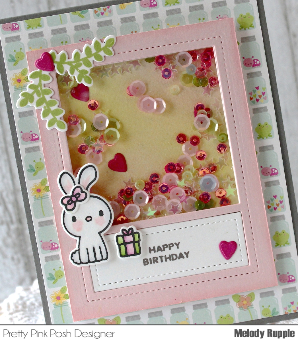 a paper melody happy birthday shaker card
