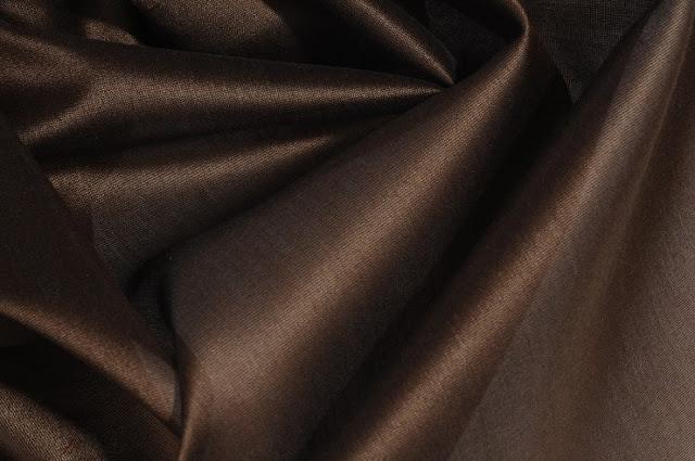 Chocolate Cotton Silk Fabric